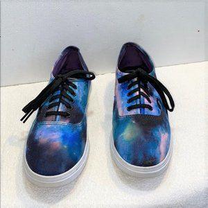 Vans Tie Die Pattern Skateboard Sneakers, Sz 8